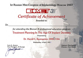 Ist Russian Mini-Congress of Implantology Moscow 2007