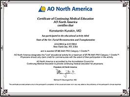 AO North America: Facial Reconstruction and Transplantation