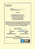 The British Association of Oral & Maxillofacial Surgeons