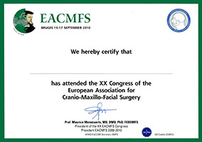XX Congress of the European Association for Cranio-Maxillo-Facial Surgery